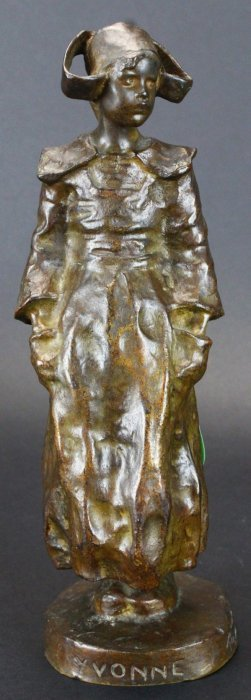 Bronze, Breton Girl 'yvonne', Ruth Milles B. 1873