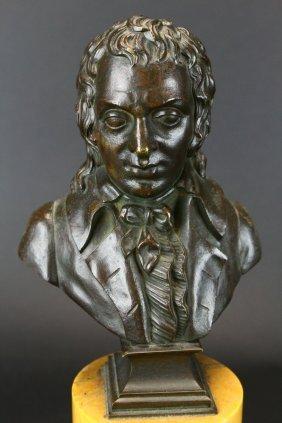 Bronze Bust Of Francois-noel Babeuf