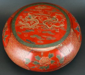 Chinese Lacquer Box, Gift Carrier, C.1890