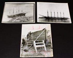 (3) Photographs, Yachts, 20th C.