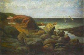 O/c Rocky Shoreline, Xavier Barile, (1891-1981)