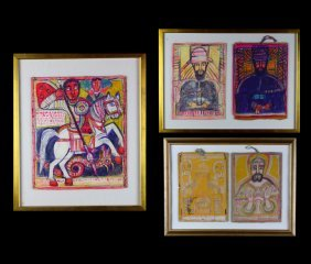 W/p 3 Ethiopian Framed Artworks