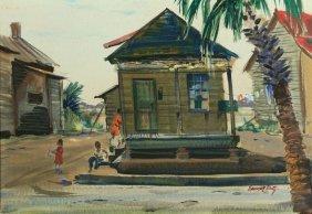 W/p Emmet Fritz, St. Augustine Slave Cabin, 1960