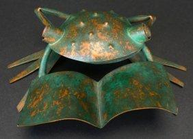 Copper Frog Sculpture, Vilos Castilloo