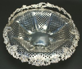 Swinging Silver Basket With Stars