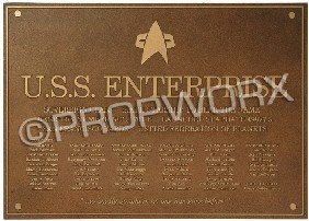 Enterprise-E Dedication Plaque