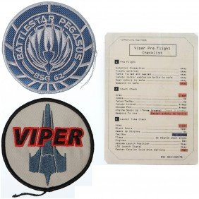Battlestar Galactica Viper And Pegasus Patch Set