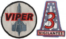 Battlestar Galactica Viper And Vigilantes Patch Set