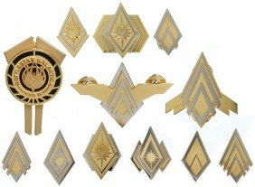 Battlestar Galactica Complete Set Of Officer Rank
