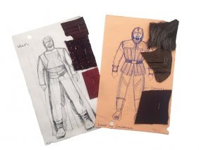 Star Trek: Tng Worf Original Concept Artwork Set