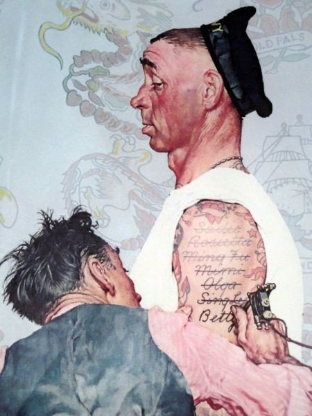 96 norman rockwell the tattoo artist lot 96 for Norman rockwell tattoo