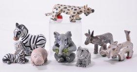 Eight Miniature Wildlife Animals