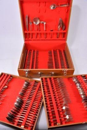 144 Pieces Brass Flatware In Presentation Box