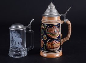 Two Vintage Steins