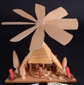 Vintage German Revolving Nativity