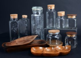 Wooden Servers, Glass Canisters
