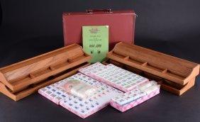 Vintage Mahjong Game, Trays & Counters