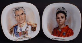Shah Of Iran & Wife Plates