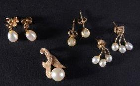 10k & 14k Gold & Pearl Estate Jewelry
