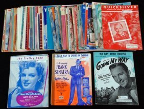 Vintage Sheet Music From The 1940's