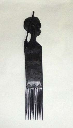 Vintage African Hand Carved Hair Pick/comb