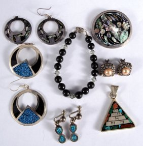Sterling Mexican & Turquoise Estate Jewelry Plus