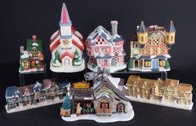 7 Christmas Village Buildings