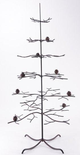 Metal Tree W/pine Cones