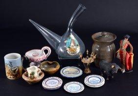 Spanish Lot Inc. Ceramics, Wine Jug Plus