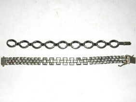 2 Sterling Silver Bracelets Avanti & Danecraft