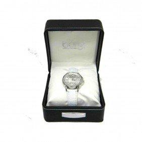 Burgi Women's Diamond Classic Stainless Steel Watch