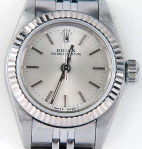 Rolex Stainless Steel Oyster Perpetual Watch