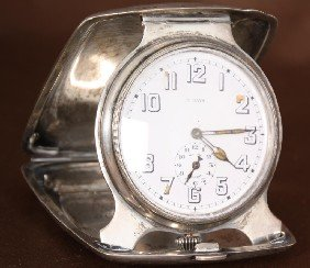 William B. Kerr & Co Sterling Travel Alarm Clock