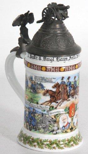 Kaiser Regimental Lithophane 1/2 Liter Stein.
