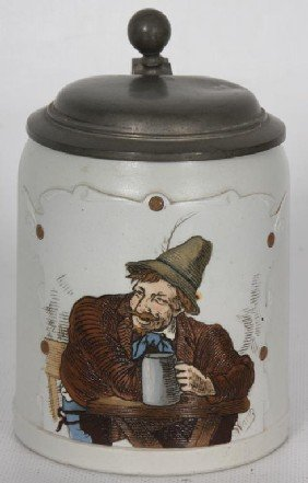 Short Mettlach Incised 1/2 Liter Stein #1533; Arti