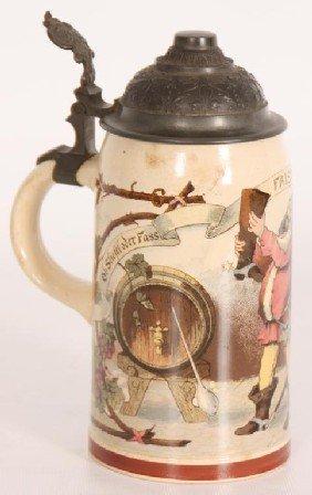 German 1/2 Liter Scenic Beer Stein #1909.