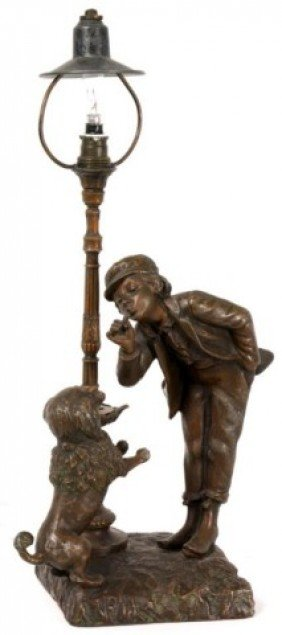 French Figural Novelty Desk Lamp