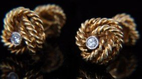 Tiffany 18K Gold Cufflinks & Studs