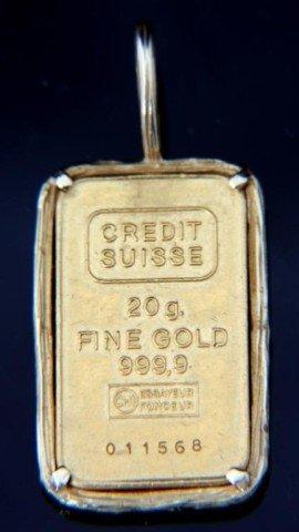 20 Gram Credit Suisse Gold Bullion