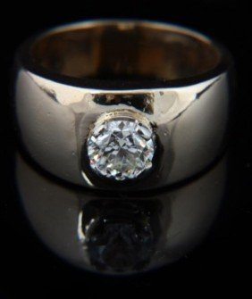 14K Gold Men's 1.25 Carat Diamond Ring
