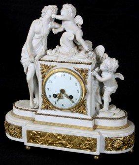 Sevres Venus & Amor Porcelain Clock
