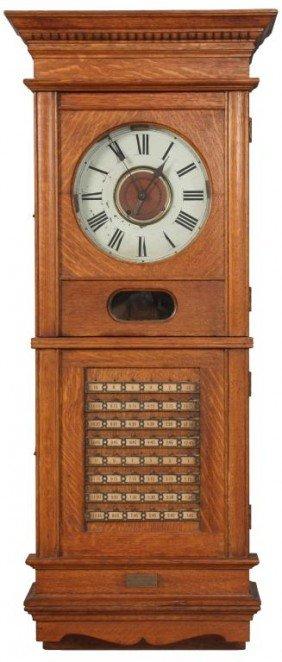 Wolfe & Seeley Oak Time Clock