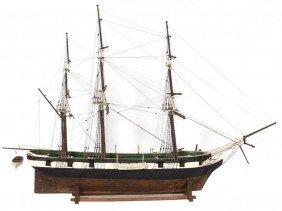 19th C. Man O War Model Ship