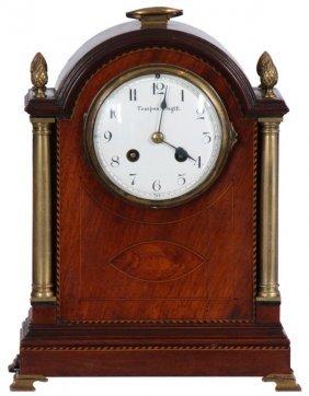 Inlaid Mahogany Mantle Clock
