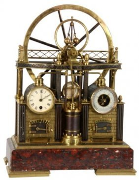 French Industrial Steam Clock