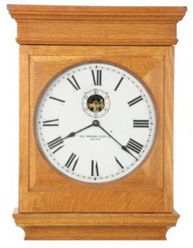 Oak Self Winding Clock