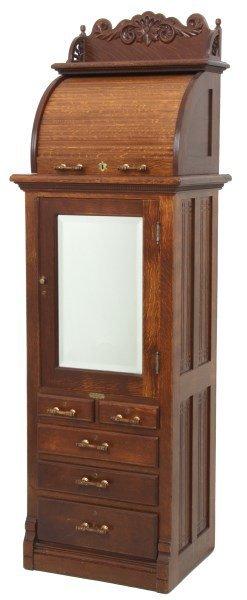Oak Harvard Co. Roll Top Dental Cabinet