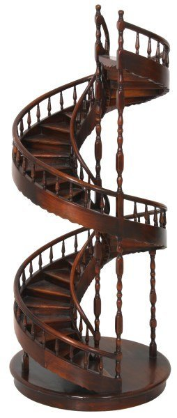 Fancy Spiral Staircase Collectors Stand