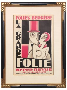 Folies Bergere Deco Movie Poster