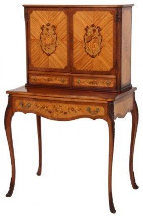 Inlaid Mahogany Secretary Desk